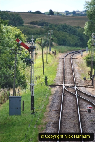 2020-07-11 SR runs it's first train since lockdown. (104) First down train Norden to Swanage. 104