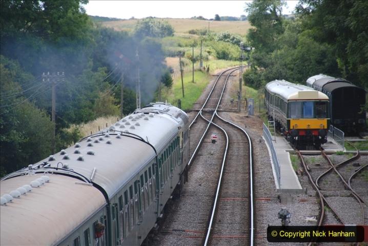 2020-07-11 SR runs it's first train since lockdown. (105) First down train Norden to Swanage. 105