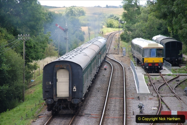 2020-07-11 SR runs it's first train since lockdown. (106) First down train Norden to Swanage. 106
