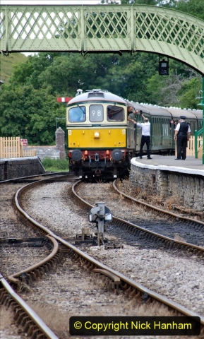 2020-07-11 SR runs it's first train since lockdown. (147) Norden to Swanage second down train. 147