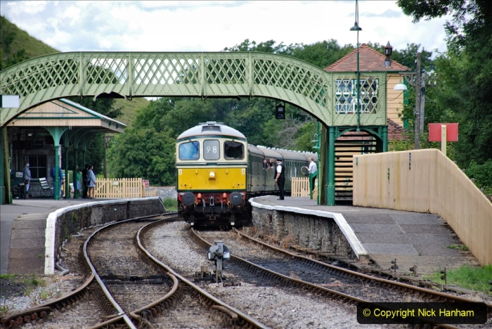 2020-07-11 SR runs it's first train since lockdown. (148) Norden to Swanage second down train. 148