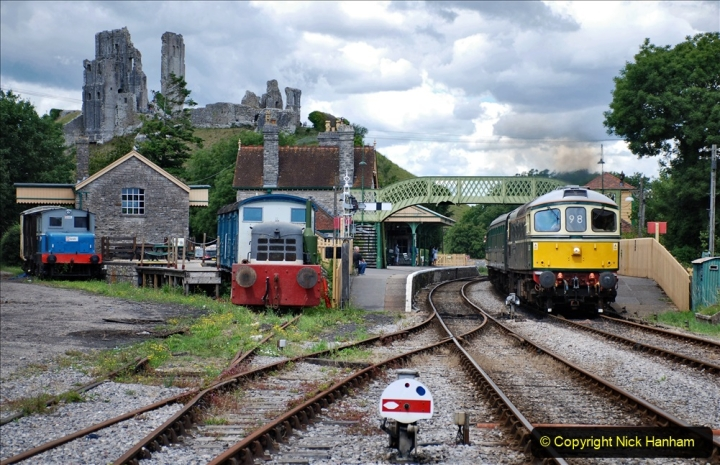 2020-07-11 SR runs it's first train since lockdown. (149) Norden to Swanage second down train. 149
