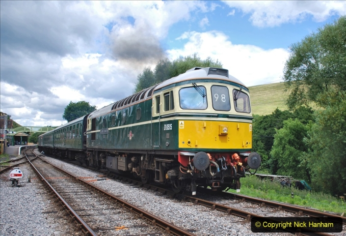 2020-07-11 SR runs it's first train since lockdown. (151) Norden to Swanage second down train. 151