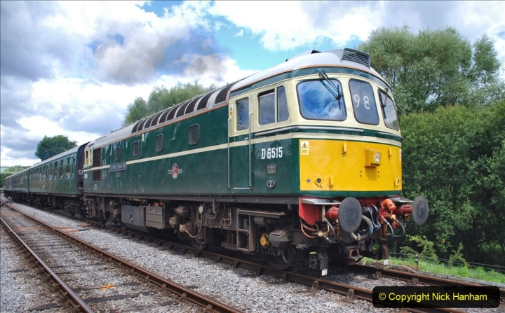 2020-07-11 SR runs it's first train since lockdown. (152) Norden to Swanage second down train. 152