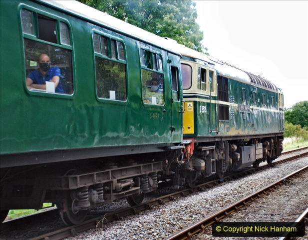 2020-07-11 SR runs it's first train since lockdown. (153) Norden to Swanage second down train. 153