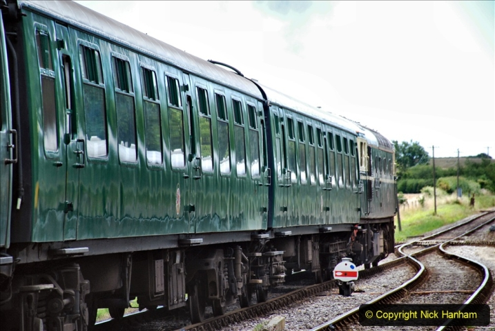 2020-07-11 SR runs it's first train since lockdown. (154) Norden to Swanage second down train. 154