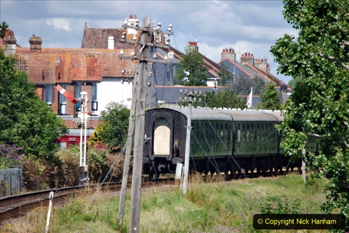 2020-07-11 SR runs it's first train since lockdown. (88) First up train leave Swanage at 1030.  088