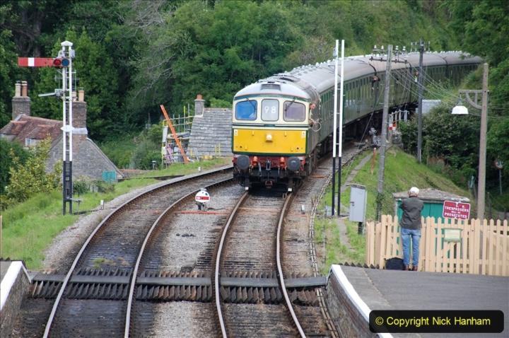 2020-07-11 SR runs it's first train since lockdown. (98) First down train Norden to Swanage. 098