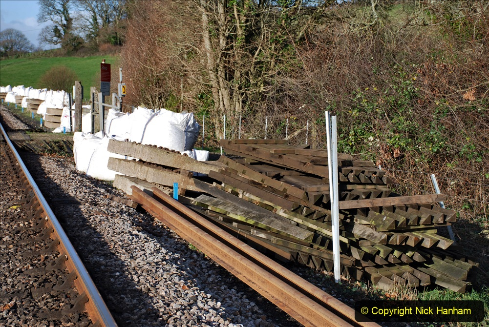 2019-12-23 SR Santa Specials. (143) January 2020 rail replacement work site. 143