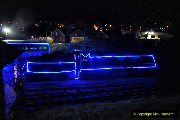 2020-12-04 Volunteer & Staff test train for Steam & Lights. (1) Swanage. 001