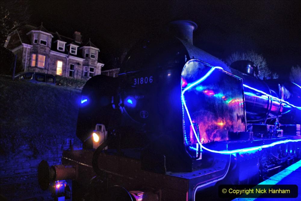 2020-12-04 Volunteer & Staff test train for Steam & Lights. (12) Swanage. 012
