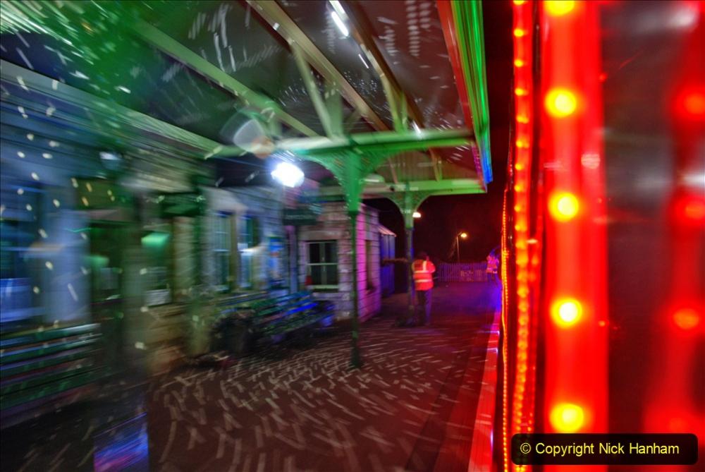 2020-12-04 Volunteer & Staff test train for Steam & Lights. (19) Corfe Castle.  019