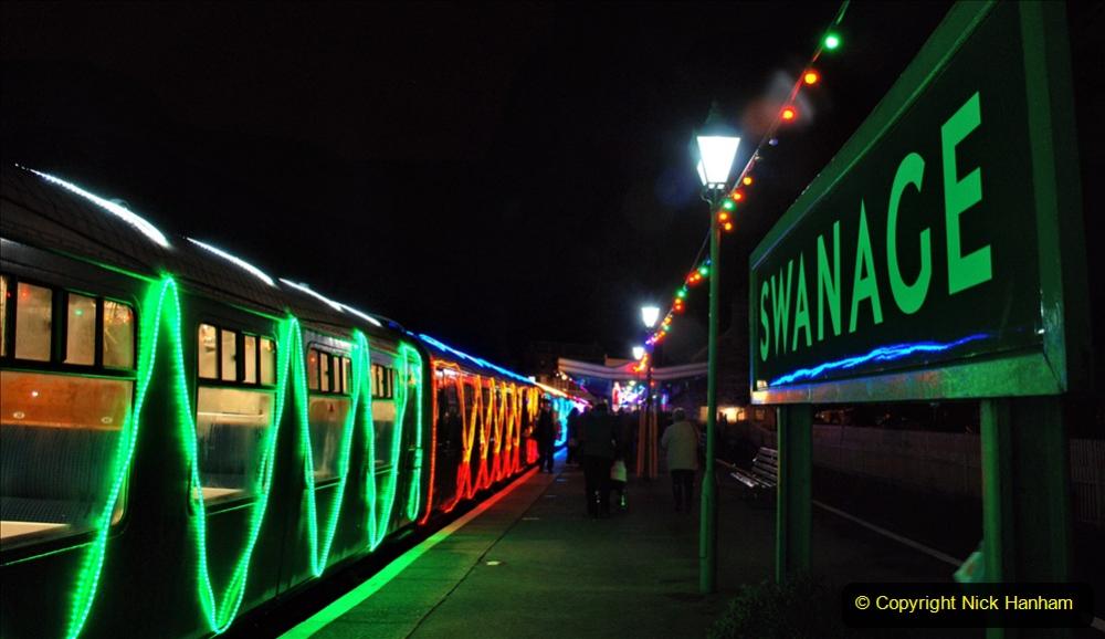 2020-12-04 Volunteer & Staff test train for Steam & Lights. (27) Swanage. 027