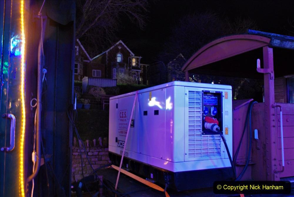 2020-12-04 Volunteer & Staff test train for Steam & Lights. (33) Swanage. Generator for lights. 033