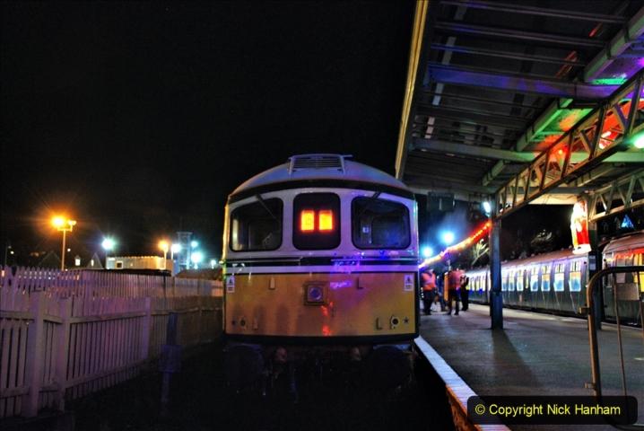 2020-12-04 Volunteer & Staff test train for Steam & Lights. (35) Swanage. 035