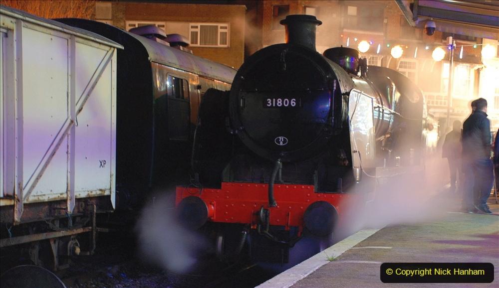 2020-12-04 Volunteer & Staff test train for Steam & Lights. (36) Swanage. 036