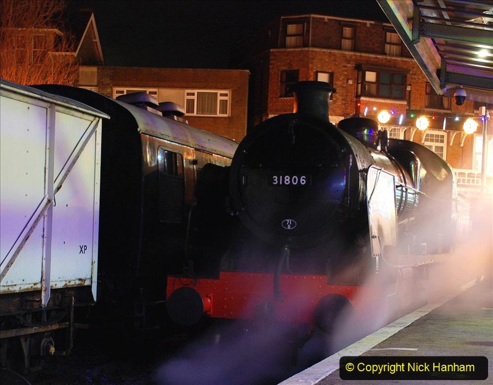 2020-12-04 Volunteer & Staff test train for Steam & Lights. (37) Swanage. 037