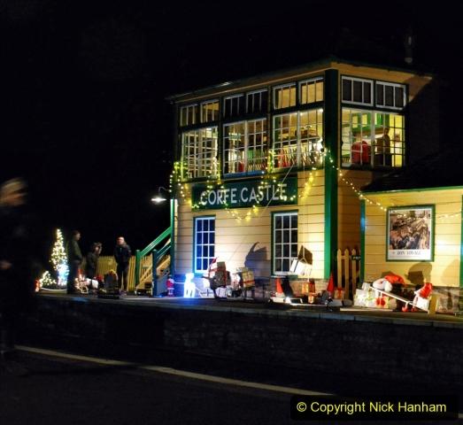 2020-12-12 SR Steam & Lights trackside. (29) Corfe Castle. 079