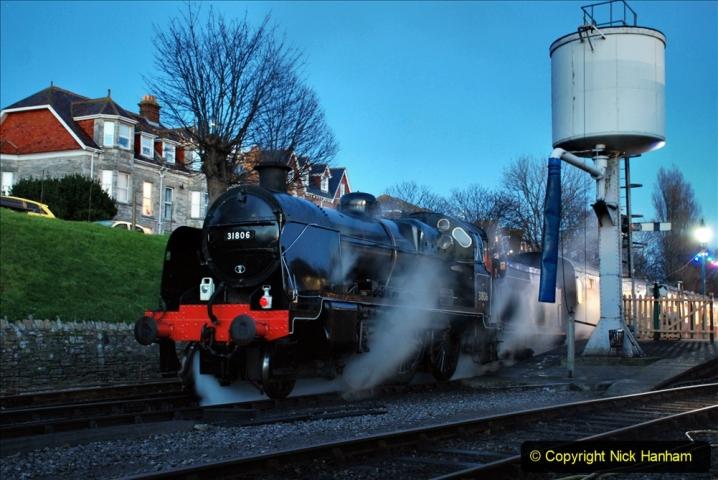 2020-12-12 SR Steam & Lights trackside. (5) Swanage. 055