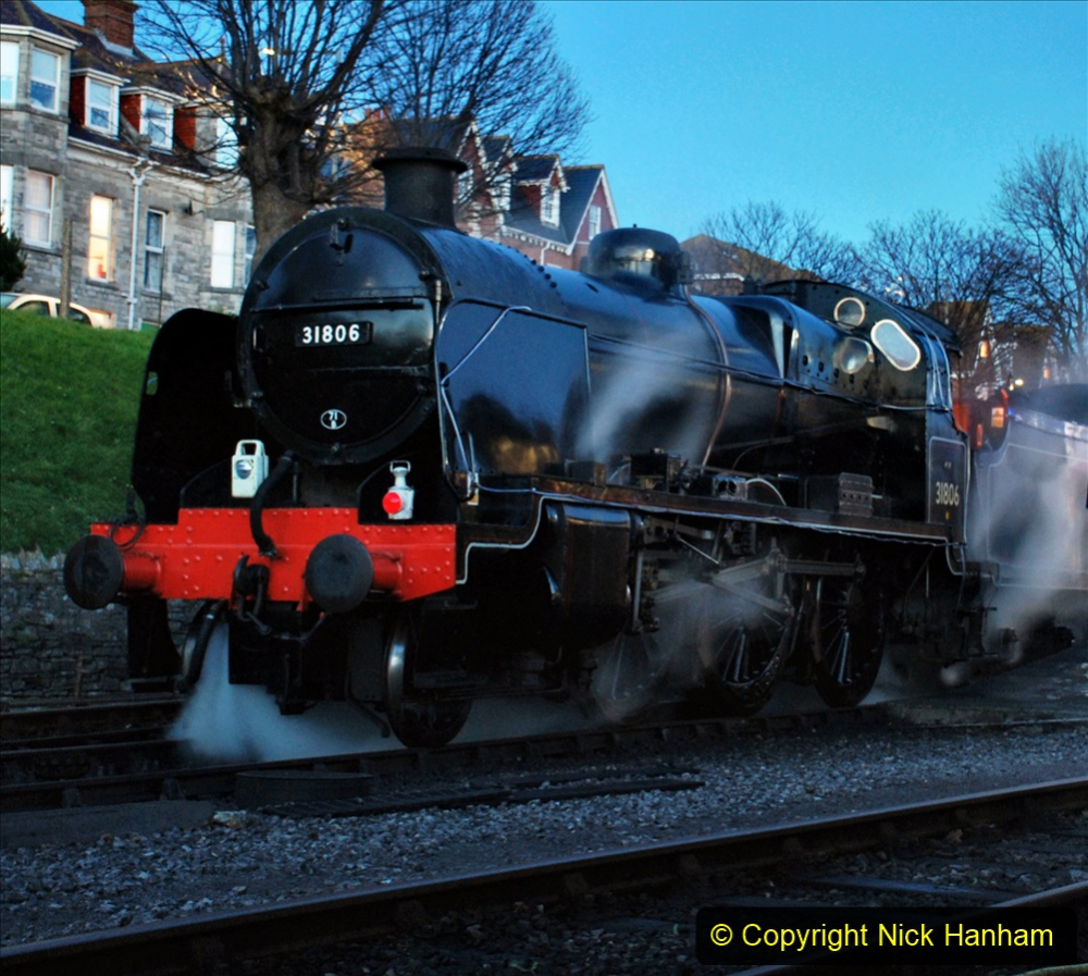 2020-12-12 SR Steam & Lights trackside. (6) Swanage. 056