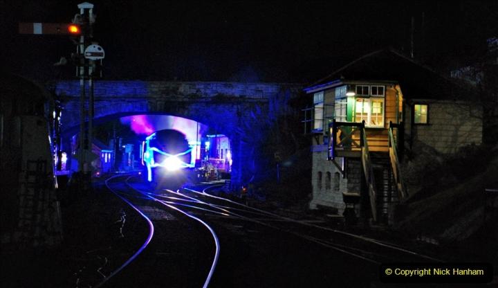 2020-12-12 SR Steam & Lights trackside. (70) Swanage. 120