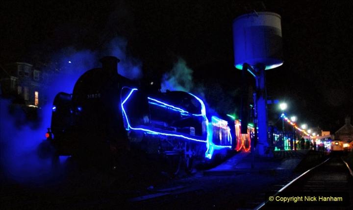 2020-12-12 SR Steam & Lights trackside. (77) Swanage. 127