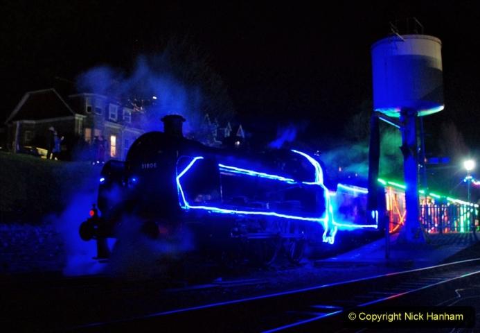 2020-12-12 SR Steam & Lights trackside. (80) Swanage. 130