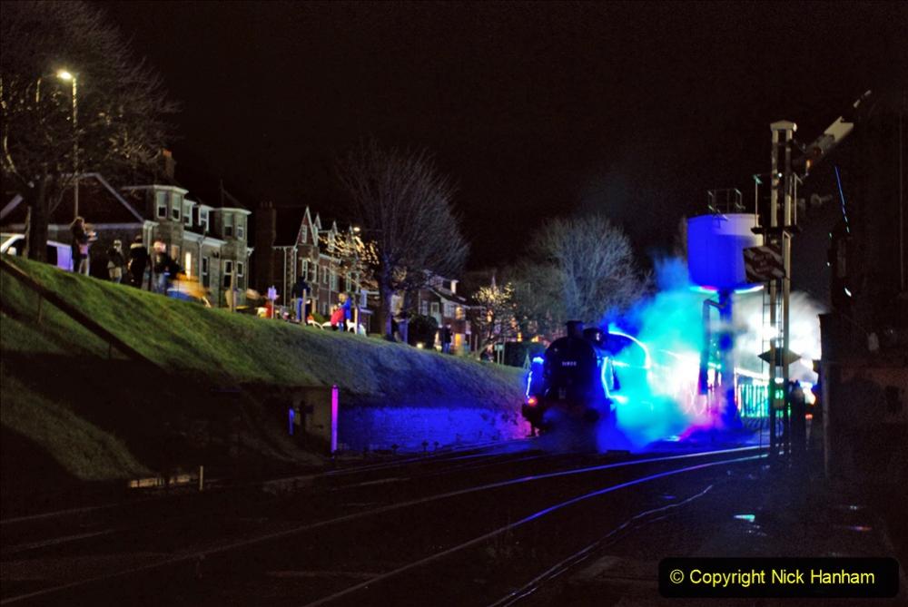 2020-12-12 SR Steam & Lights trackside. (82) Swanage. 132