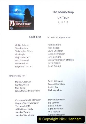 2019-08-07 The Mousetrap at Bournemouth Pavillion Theatre. (16) The play. 011