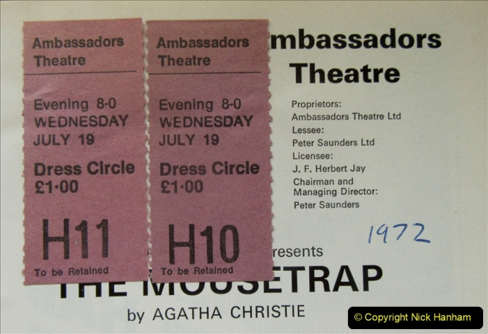 2019-08-07 The Mousetrap at Bournemouth Pavillion Theatre. (28) Your Host and Wife saw The Mousetrap at the Ambassadors Theatre in London in 1972. 026
