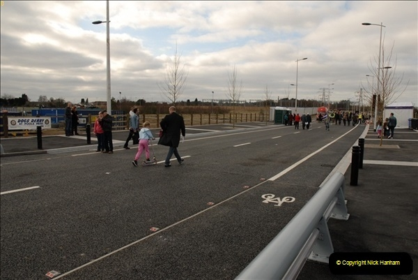 2012-02-25 Poole Twin Sails Bridge first day open to the public. (No Vehicles) (15)070