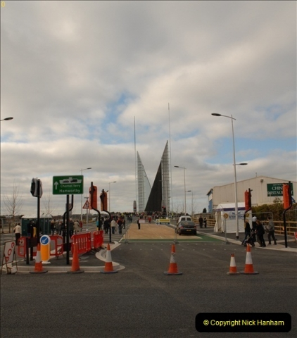 2012-02-25 Poole Twin Sails Bridge first day open to the public. (No Vehicles) (21)076