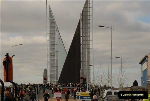 2012-02-25 Poole Twin Sails Bridge first day open to the public. (No Vehicles) (23)078
