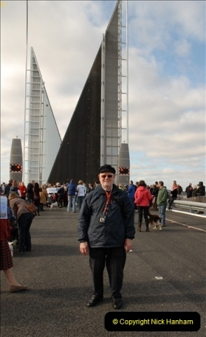 2012-02-25 Poole Twin Sails Bridge first day open to the public. (No Vehicles) (43)098
