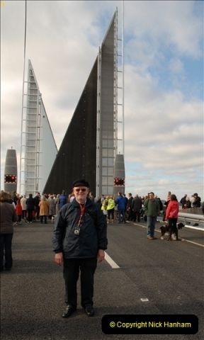 2012-02-25 Poole Twin Sails Bridge first day open to the public. (No Vehicles) (44)099