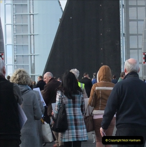 2012-02-25 Poole Twin Sails Bridge first day open to the public. (No Vehicles) (49)104