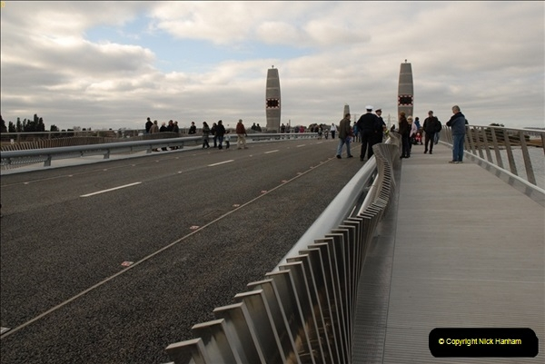 2012-02-25 Poole Twin Sails Bridge first day open to the public. (No Vehicles) (9)064