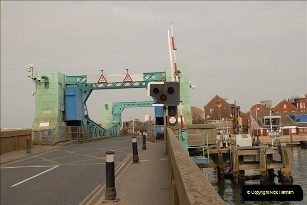 2012-02-29 Poole New Twin Sails Bridge  and Old Lifting Bridge.  (14)154