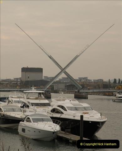 2012-02-29 Poole New Twin Sails Bridge  and Old Lifting Bridge.  (2)142
