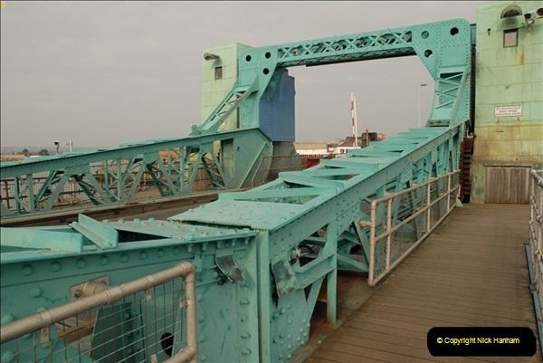 2012-02-29 Poole New Twin Sails Bridge  and Old Lifting Bridge.  (22)162