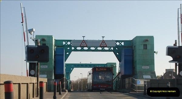 2012-04-06 Travelling over Poole Twin Sales New Bridge & the Old Bridge.  (21)319