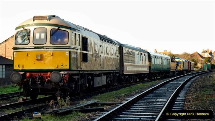 2019-11-28 The SR no running day Swanage to Wareham. (16) 016