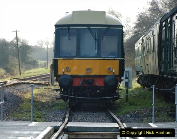 2019-11-28 The SR no running day Swanage to Wareham. (160) Harmans Cross. Corfe Castle. 161
