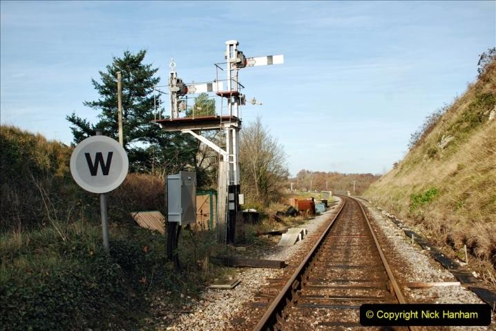 2019-11-28 The SR no running day Swanage to Wareham. (166) Harmans Cross. Corfe Castle. 167