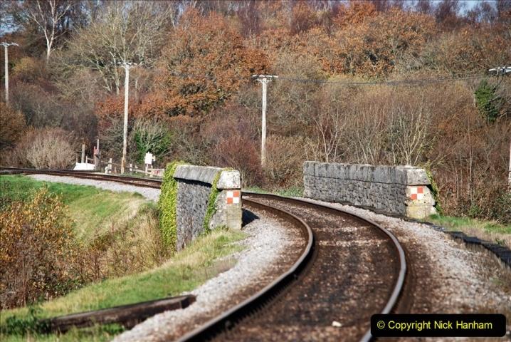 2019-11-28 The SR no running day Swanage to Wareham. (170) Harmans Cross. Corfe Castle. 171