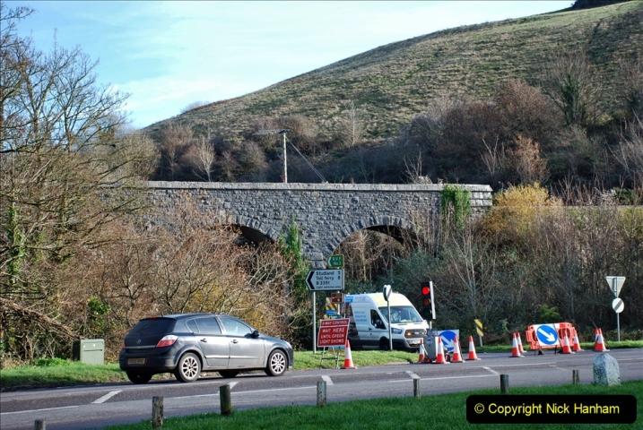 2019-11-28 The SR no running day Swanage to Wareham. (174) Harmans Cross. Corfe Castle. 175