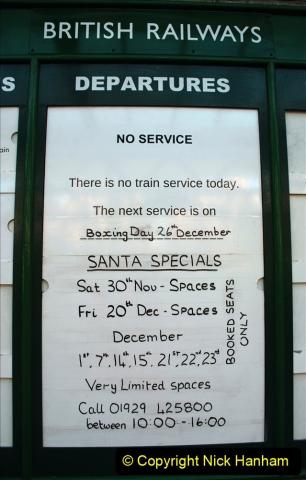 2019-11-28 The SR no running day Swanage to Wareham. (74) Santa Specials Preparations. 074