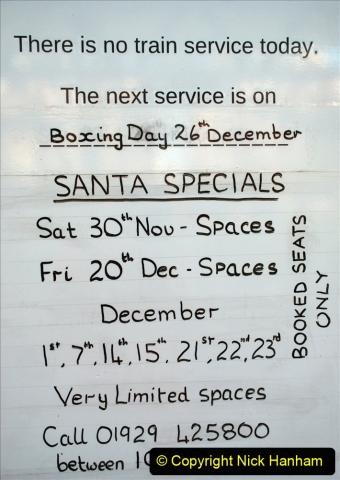 2019-11-28 The SR no running day Swanage to Wareham. (75) Santa Specials Preparations. 075
