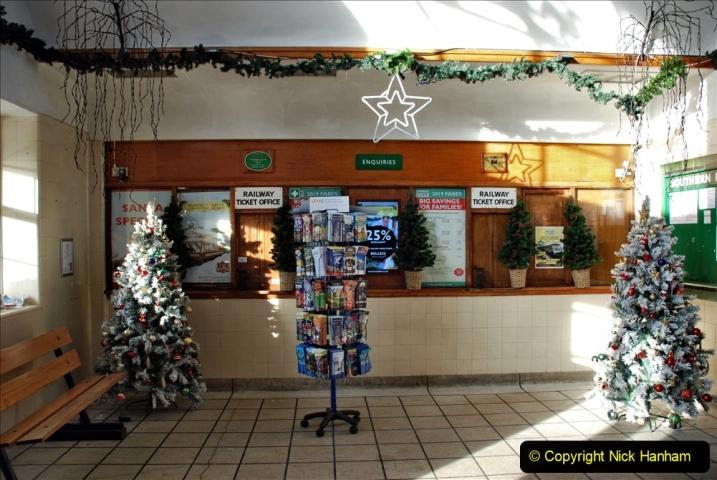 2019-11-28 The SR no running day Swanage to Wareham. (77) Santa Specials Preparations. 077