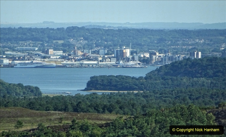 2020-06-23 Swanage Railway still in lockdown. (7) View of Poole from the Purbeck Hills. 007